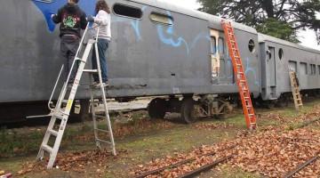 Primer pintada legal en trenes de linea en Argentina
