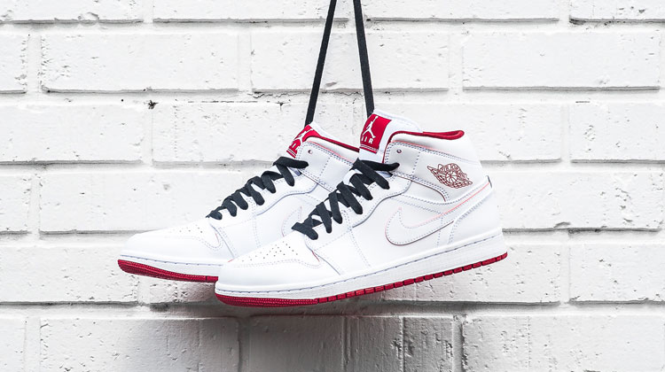 Air Jordan 1 mid white gym red