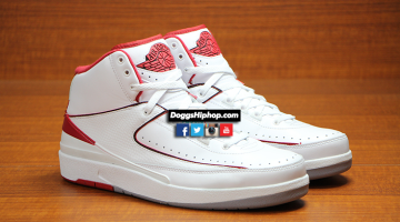 Air Jordan 2 Retro White – Red