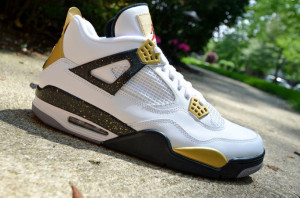"Air Jordan IV ""Gold Digger"" Customs by DMC Kicks"