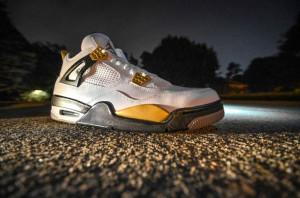 """Air Jordan IV """"Gold Digger"""" Customs by DMC Kicks"""