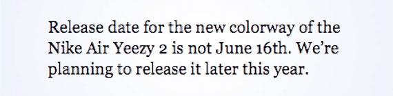 Nike Air Yeezy 2 Red: Confirmadas