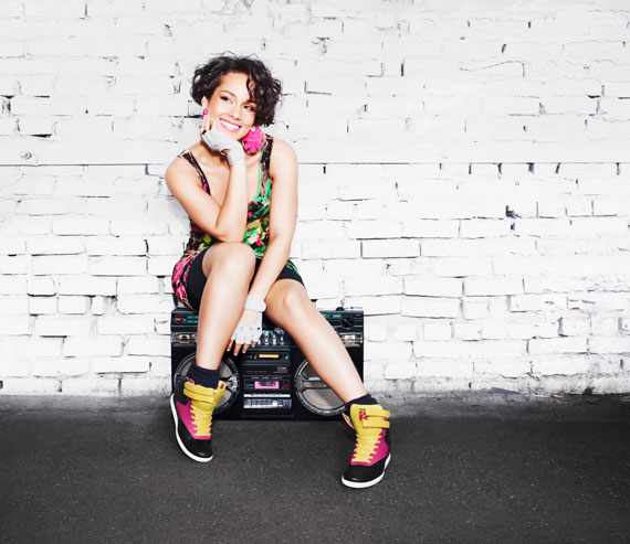 Alicia Keys x Reebok Classics 2013 collection