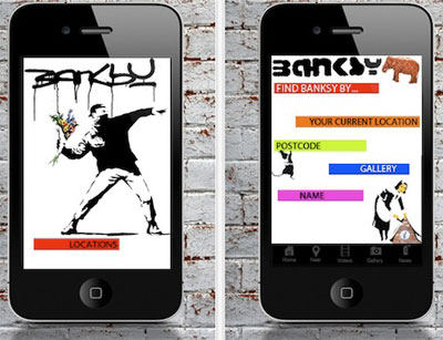 Banksy Locations App para iPhone